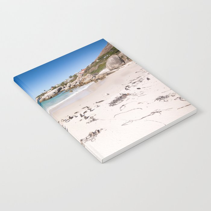 Penguins on Boulders Beach in Cape Town, South Africa Notebook