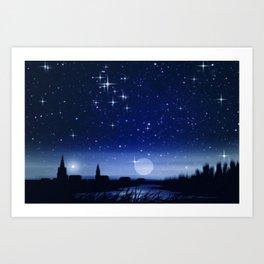 Sommernacht. Art Print