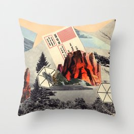 Mt. Red Throw Pillow
