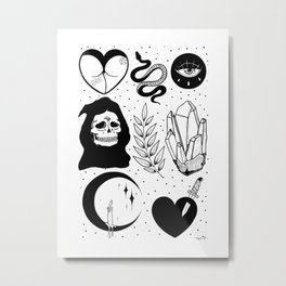 Witchy Flash Page II Metal Print