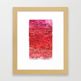 Red Ombre Collage Framed Art Print