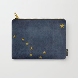 Alaskan State Flag, Distressed worn style Carry-All Pouch