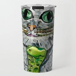 Cat & Fish Tie Travel Mug