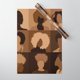 FOR BROWN GIRLS COLLECTION COLLAGE Wrapping Paper