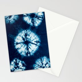 indigo tie dye Stationery Cards