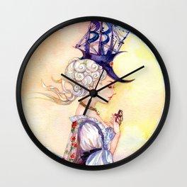 Vintage Watercolor Girl: Praying Maid Wall Clock