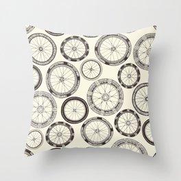 bike wheels pearl Throw Pillow