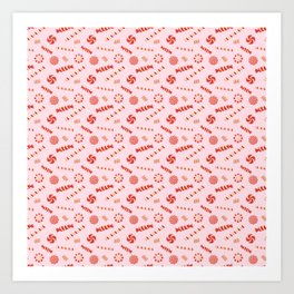Seasonal Sweets Pink Art Print