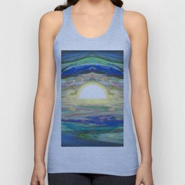 An Abstract Sunrise of a Sunset at the Beach Unisex Tank Top