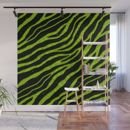 Ripped SpaceTime Stripes - Lime Wall Mural