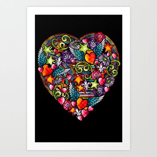 my heart has wings Art Print