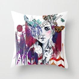 Tribal Girl  Throw Pillow