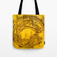 hook Tote Bags featuring Hook  by Anne Powers