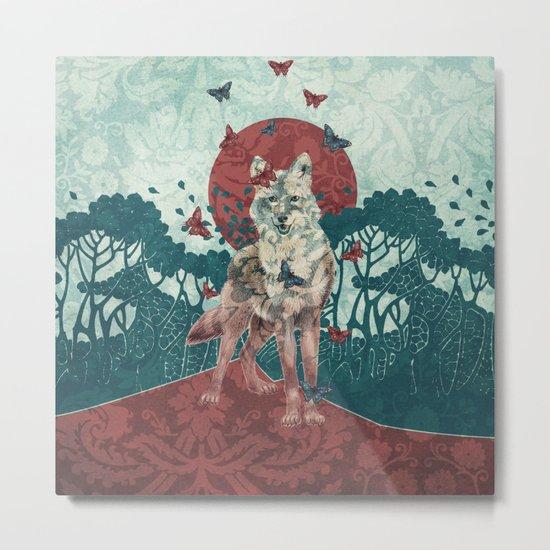 Lady Butterfly Metal Print