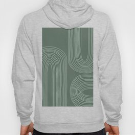 Hand drawn Geometric Lines in Forest Green 3 Hoody