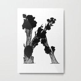 "Native Texas Plants ""K"" Metal Print"