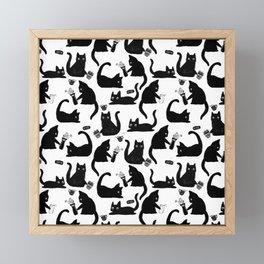 Bad Cats Knocking Stuff Over Framed Mini Art Print