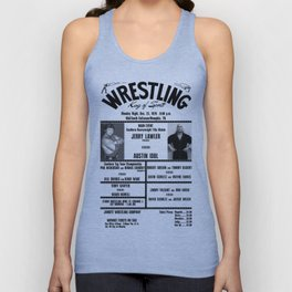 #5 Memphis Wrestling Window Card Unisex Tank Top