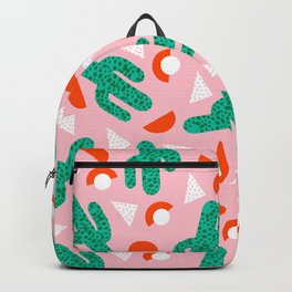 Red Hot - cactus southwest desert palm springs retro neon throwback 1980s style minimal plants Backpack