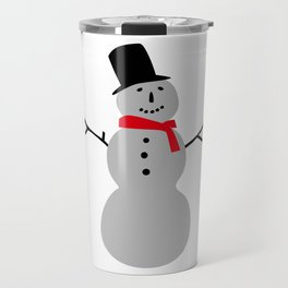 Christmas Snowman-White Travel Mug