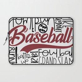 Baseball Typo Laptop Sleeve