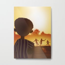 One Day | Soccer in the Heat of day Metal Print