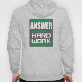 Answer - Hard Work -- Grey Hoody