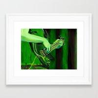 bass Framed Art Prints featuring Bass by Juliana Marie