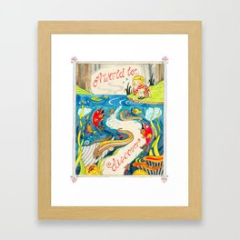 A World To Discover Framed Art Print