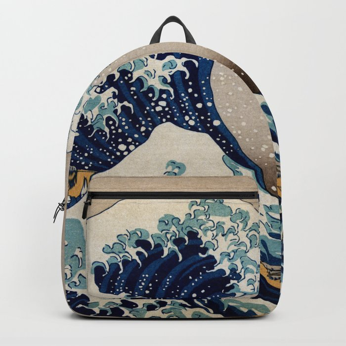 Under the Great Wave by Hokusai Backpack