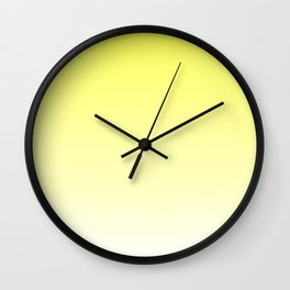 Yellow Ombre Wall Clock