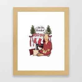 Merry Christmas Scene Framed Art Print