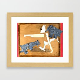 Attacked by Bear Cub Cadets Framed Art Print