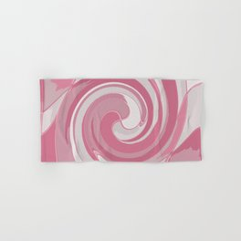 Spiral in Pink and White Hand & Bath Towel