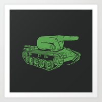 war Art Prints featuring @#$% WAR! by Madkobra