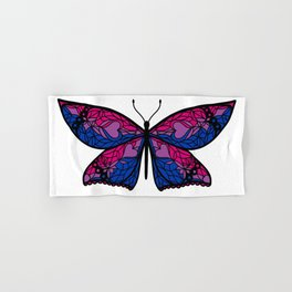 Fly With Pride: Bisexual Flag Butterfly Hand & Bath Towel