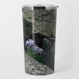 Columbines on a Rock Slide Travel Mug