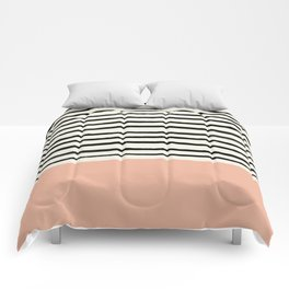 Peach x Stripes Comforters