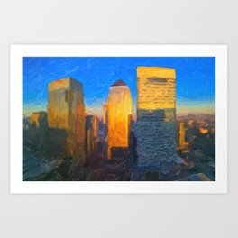 Sunny Day - Canary Wharf London Art Print
