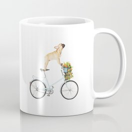 French Bulldog on Bicycle Coffee Mug