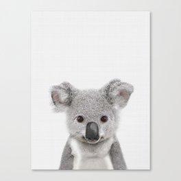 Koala Print, Australian Baby Animal, Nursery Wall Art, Peekaboo Animals, Koala Canvas Print