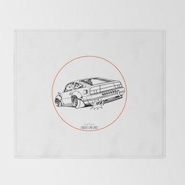 Crazy Car Art 0206 Throw Blanket
