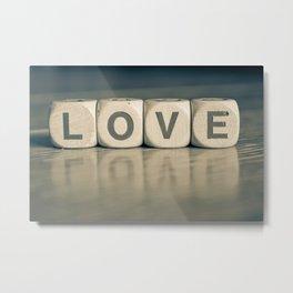 Love scrabble Metal Print