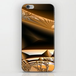 Golden layers of mysterious details iPhone Skin