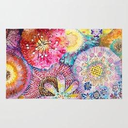 Flowered Table Rug