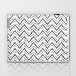 Silver Glitter Chevron Laptop & iPad Skin