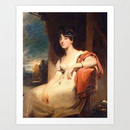 Lawrence, Thomas - Miss Harriet Clements Art Print