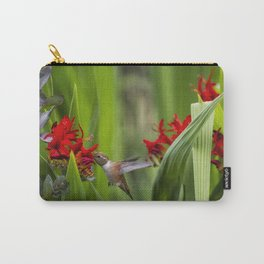 Rufous Hummingbird Feeding, No. 3 Carry-All Pouch