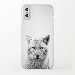 Coyote - Black & White Clear iPhone Case