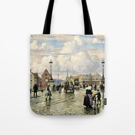 Paul Gustav Fischer - A Scene From Knippelsbro, Bridge In Copenhagen, When The Artist Was A Boy Tote Bag